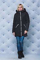 Куртка удлиненная зима Fashion черная