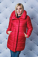 Зимняя куртка со стойкой красная