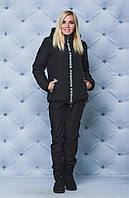 Женский зимний комплект куртка+штаны черный