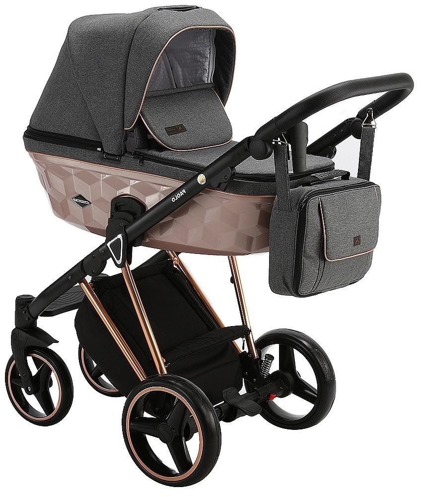 Детская универсальная коляска 2 в 1 Adamex Paolo Star-16