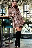 1642/7 Женское платье-рубашка Эко-кожа, фото 4