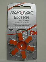 Батарейка Rayovac ZA13 для слуховых аппаратов