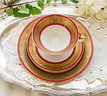 Немецкая чайная тройка, чайное трио, фарфор, Германия, Gareis Waldsassen Bavaria, фото 2