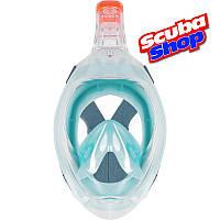 Полнолицевая маска Subea Easybreath NEW для снорклинга (цвет бирюзовый), фото 1