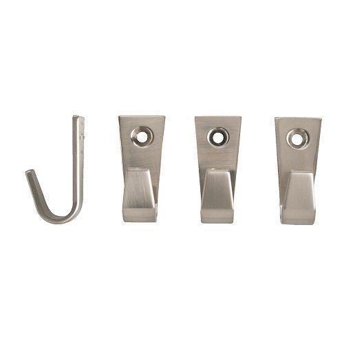 БЛЕККА Крючок, никелированный  4 см/ 4 шт.