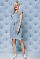 Платье летнее на кулиске светло-серое