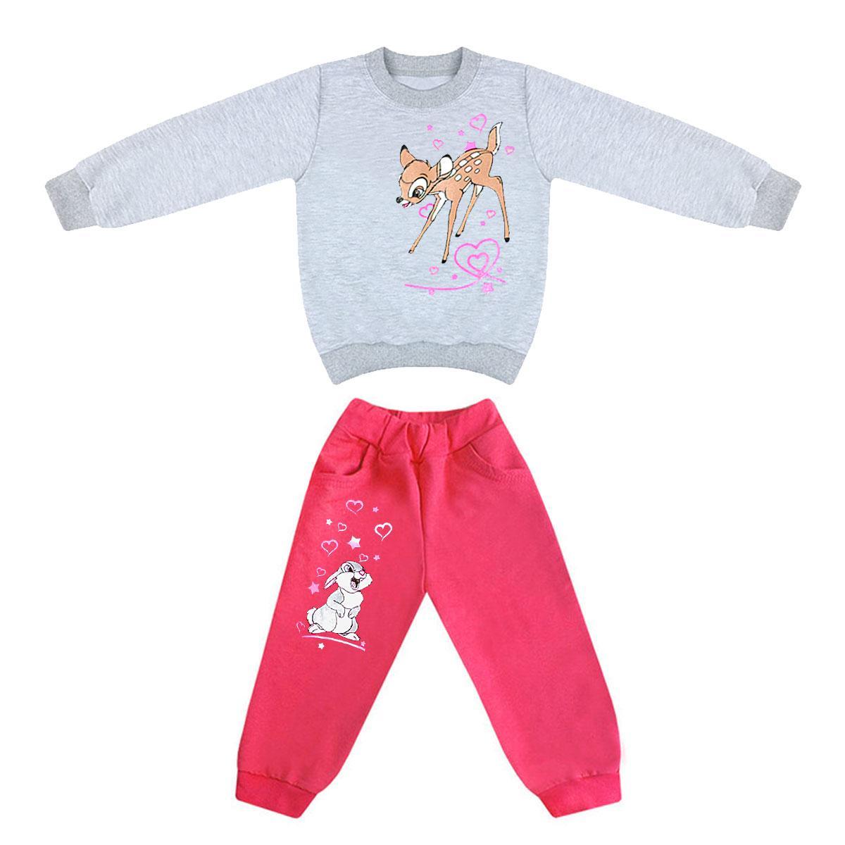 Костюм детский для девочки на 1-2 года Бэмби трехнитка-начес
