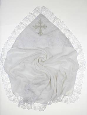 Крыжма для крещения махровая с уголком 90х90 Ласковая, фото 2