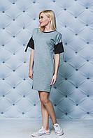 Трикотажное летнее платье светло-серое