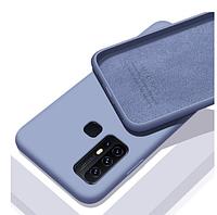 Чехол Silicone Case Full для Huawei P Smart 2020 Lavander серый
