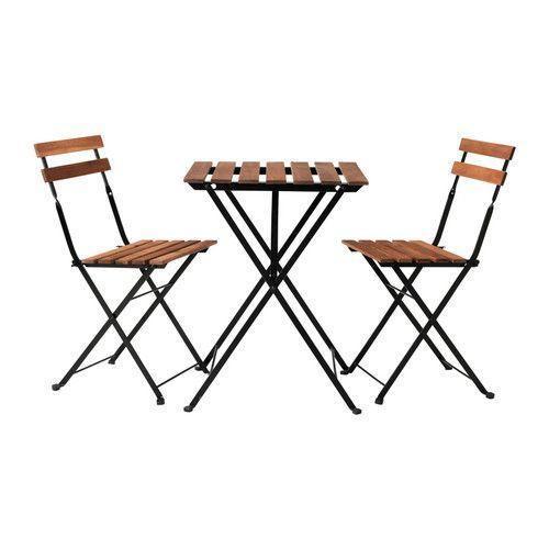 ТЭРНО Стол+2стула, д/сада, черный акация, сталь серо-коричневая морилка
