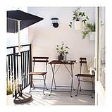 ТЭРНО Стол+2стула, д/сада, черный акация, сталь серо-коричневая морилка, фото 2