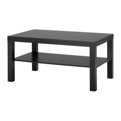 ЛАКК Журнальный стол, черно-коричневый (90*45*55)