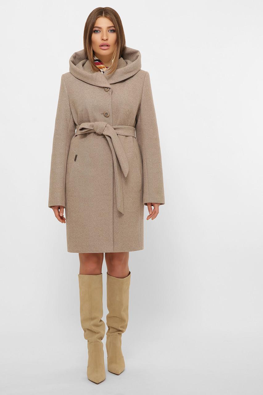 Женское Пальто MS-225 Z GLEM бежевый размер 50, (030-0001)