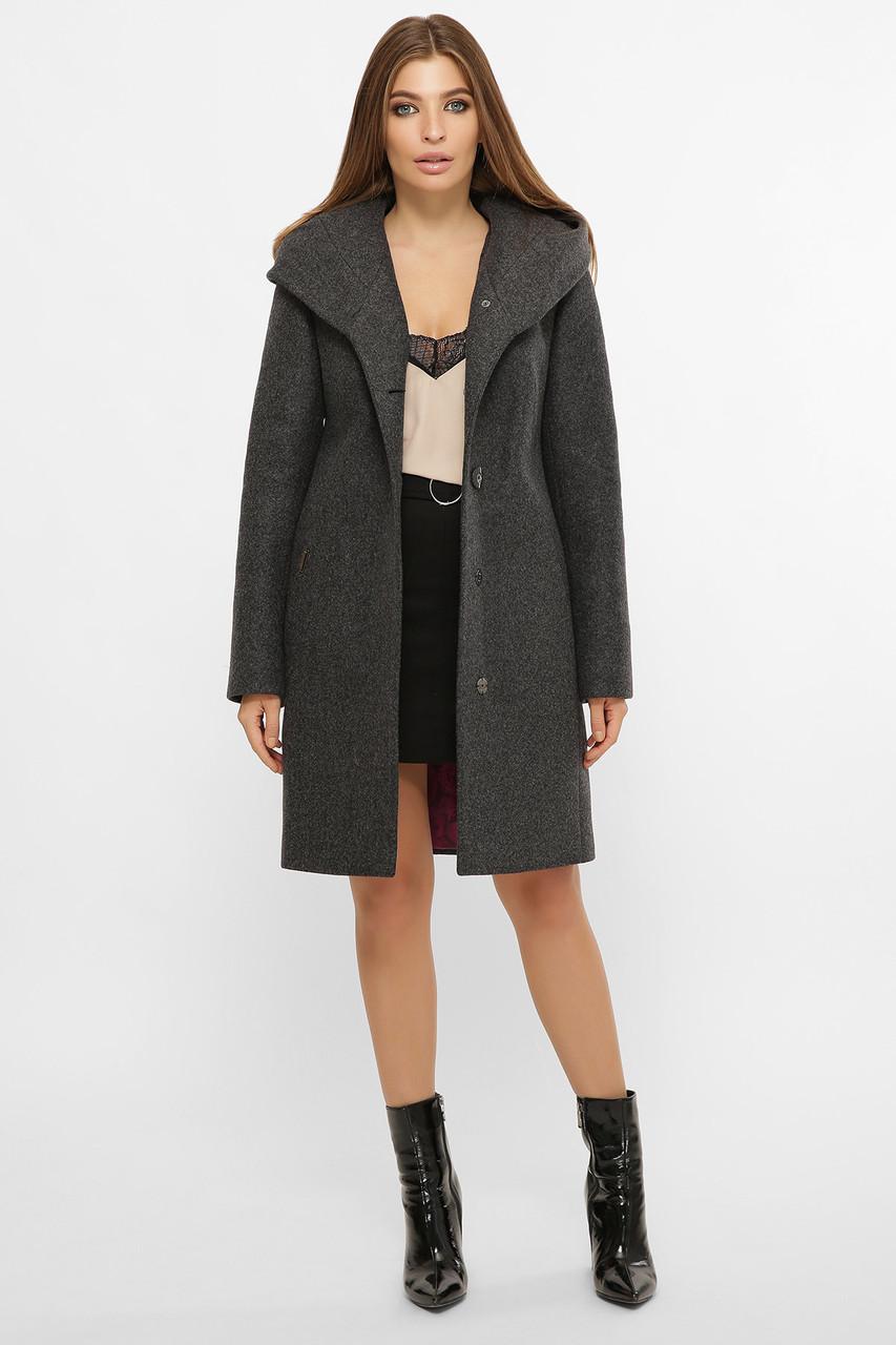 Женское Пальто MS-225 Z GLEM серый размер 44, (030-0001)