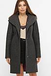 Женское Пальто MS-225 Z GLEM серый размер 44, (030-0001), фото 2