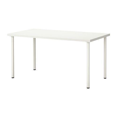 ЛИННМОН / АДИЛЬС Стол, белый 150*75 см