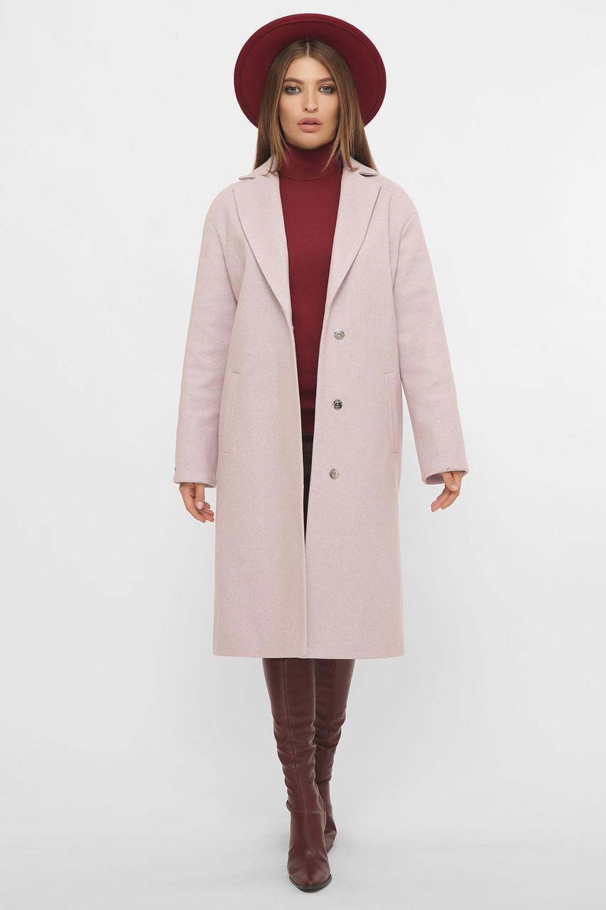 Женское Пальто MS-267 GLEM дымчатая роза размер 44, (030-0005)