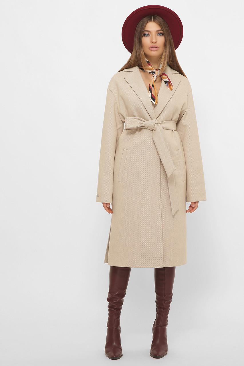 Женское Пальто MS-267 GLEM кремовый размер 42, (030-0005)