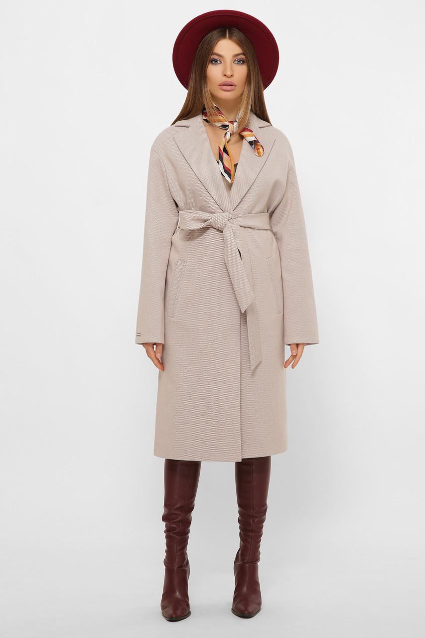 Женское Пальто MS-267 GLEM пудра размер 48, (030-0005)