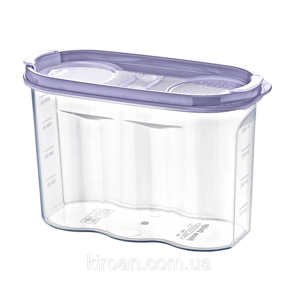 Емкость для хранения сыпучих продуктов 1.2 л Irak Plastik (Турция)  17 x 12,5 x 7 см