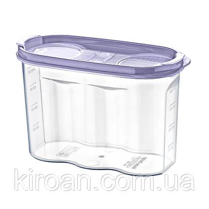 Емкость для хранения сыпучих продуктов 1.2 л Irak Plastik (Турция)  17 x 12,5 x 7 см, фото 2
