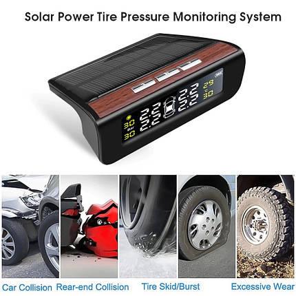 TPMS система контроля давления и температуры в шинах TOD000055-NB (С наружными датчиками, Черный), фото 2