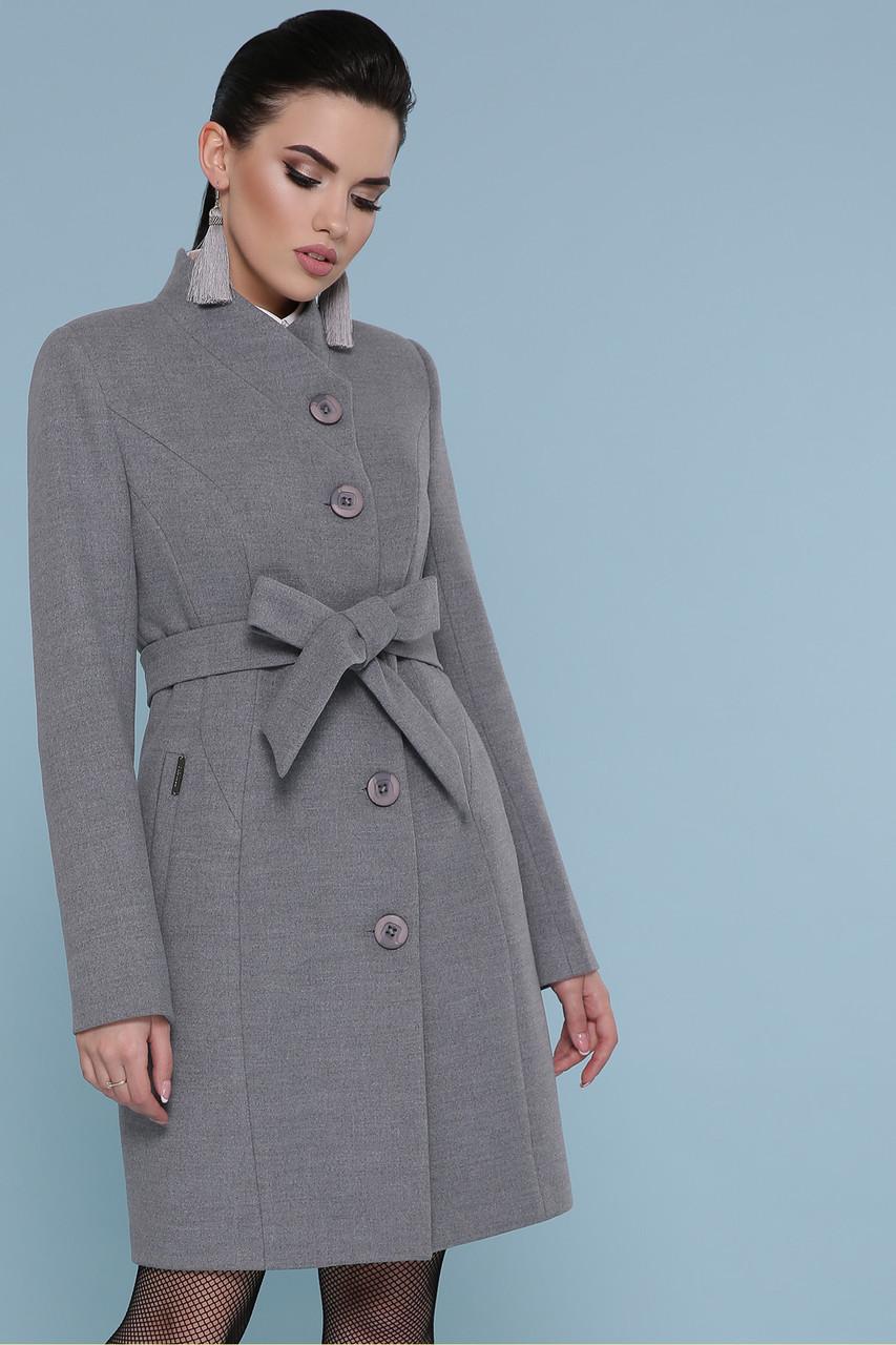 Женское Пальто П-333 GLEM св.серый размер 46, (030-0011)