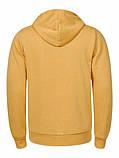 Чоловіча тепла жовта кофта на блискавці з капюшоном, фото 2
