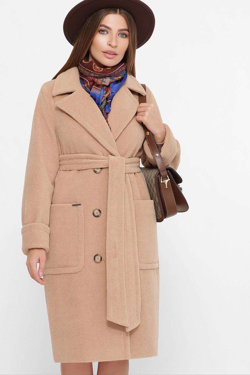 Женское Пальто П-347-100 GLEM бежевый размер 42, (030-0012)