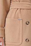 Женское Пальто П-347-100 GLEM бежевый размер 42, (030-0012), фото 5