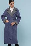 Женское Пальто П-347-110 GLEM синий размер 50, (030-0013), фото 3