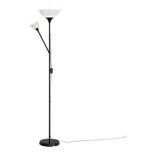 НУТ Торшер  с лампой для чтения (GU10), черный