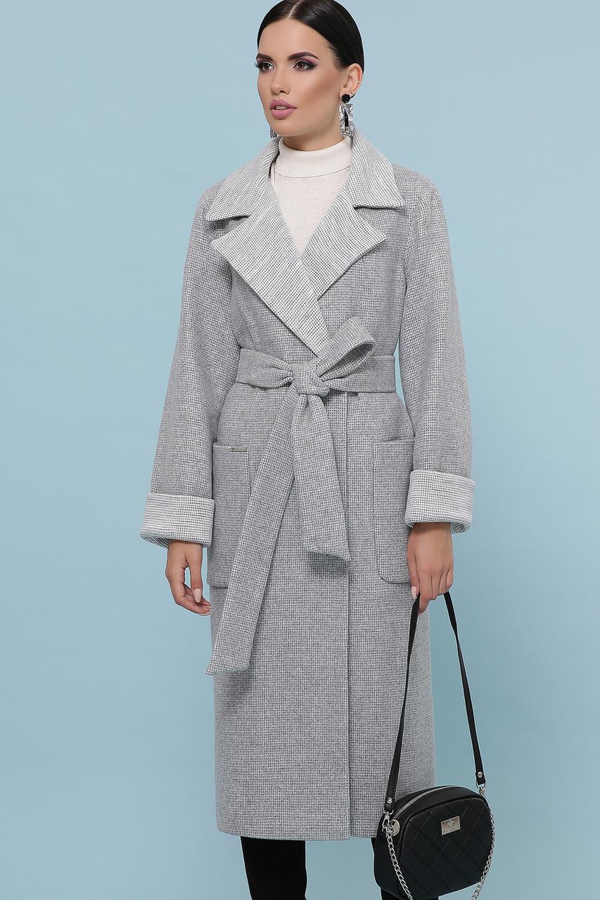 Женское Пальто П-347-110 GLEM св.серый размер 50, (030-0013)