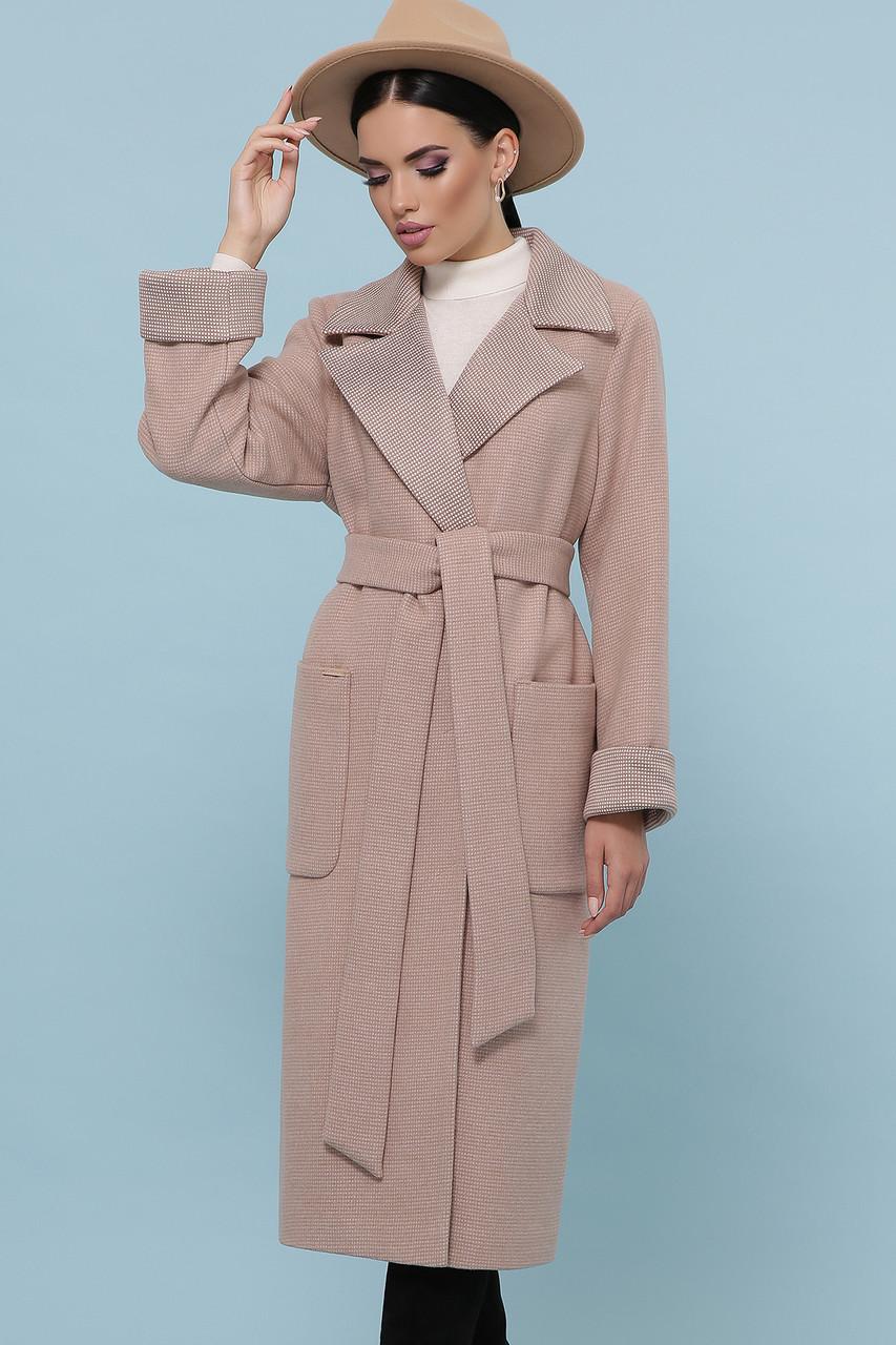 Женское Пальто П-347-110 GLEM песочный размер 54, (030-0013)