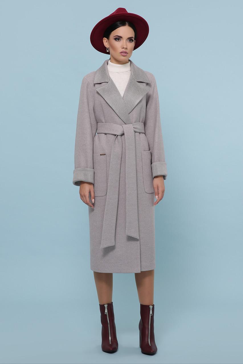 Женское Пальто П-347-110 GLEM св.бежевый размер 52, (030-0013)