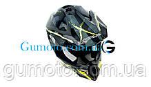 Кроссовый мотошлем 806 Spider Neon Green глянцевый S/M, фото 3
