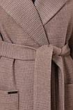 Женское Пальто П-347-М-90 GLEM коричневый размер 52, (030-0014), фото 4
