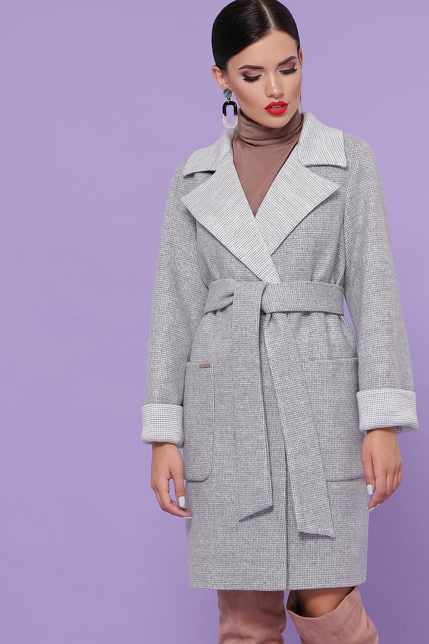 Женское Пальто П-347-М-90 GLEM св.серый размер 52, (030-0014)