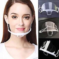 Защитная маска Прозрачный мини-козырек  для лица носа и рта, 1 шт