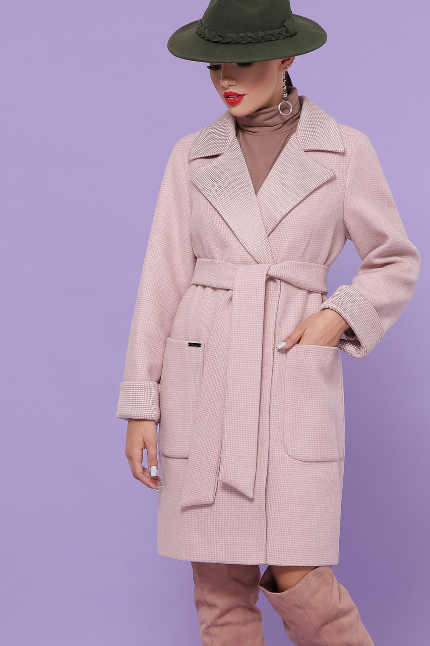 Женское Пальто П-347-М-90 GLEM пудра размер 44, (030-0014)