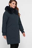 Синяя женская зимняя куртка, фото 1
