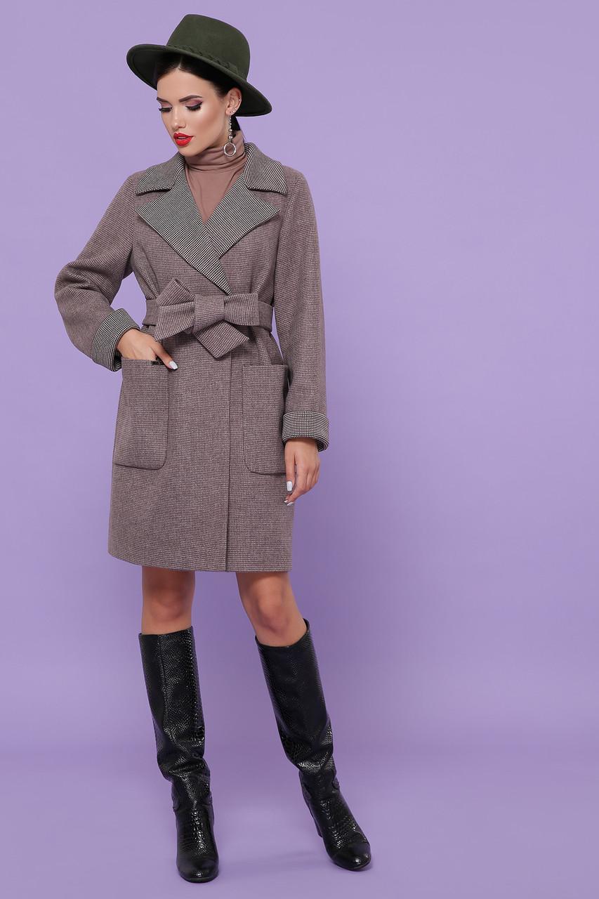 Женское Пальто П-347-М-90 GLEM темно-бежевый размер 46, (030-0014)