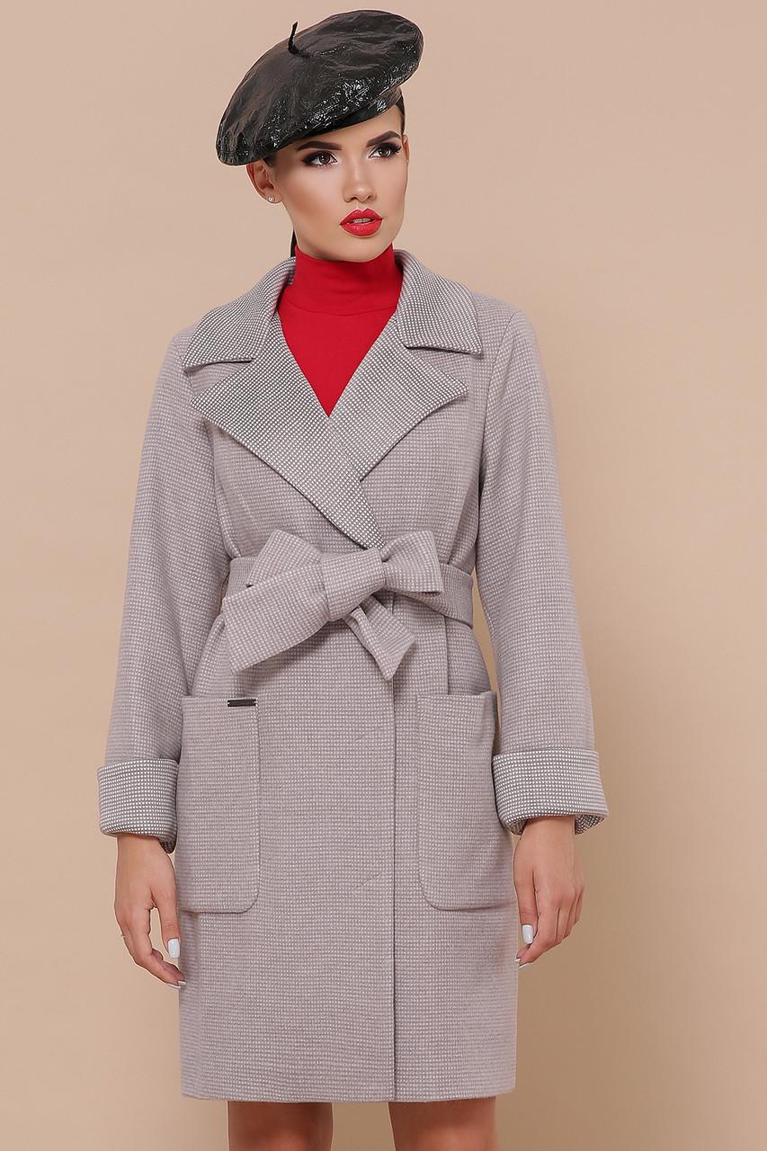 Женское Пальто П-347-М-90 GLEM перламутр размер 42, (030-0014)