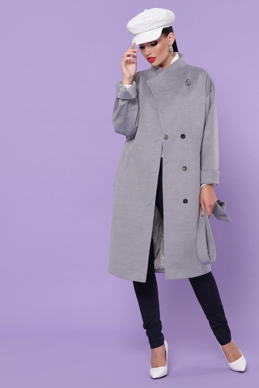 Женское Пальто П-366-100 GLEM серый размер 46, (030-0015)