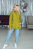 Куртка женская весна/осень олива
