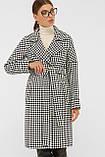 Женское Пальто П-399-100 GLEM лапка ч/б размер 42, (030-0017), фото 2
