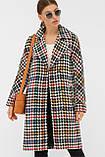 Женское Пальто П-399-100 GLEM лапка цветная размер 42, (030-0017), фото 2