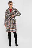 Женское Пальто П-399-100 GLEM лапка цветная размер 42, (030-0017), фото 3