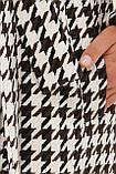 Женское Пальто П-399-100 GLEM лапка бело-коричневое размер 46, (030-0017), фото 5